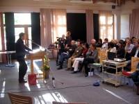 Gratulationen nahm der Verein u.a. von der Rosa-Luxemburg-Stiftung entgegen
