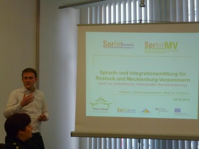 RÜCKSCHAU: Der SprInt-Ansatz als Teil des Integrationskonzeptes der Hansestadt Rostock (Arbeitstreffen 22.2.2013)