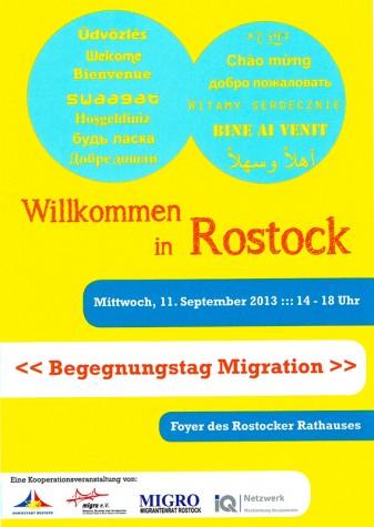 """RÜCKSCHAU: """"Willkommen in Rostock – Begegnungstag Migration"""" (11.09.13)"""
