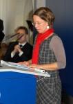 Frau Susanne Düskau, Vorstandsmitglied Diên Hông e.V. auf der 1. Frauen-Bürgerschaftssitzung