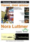 Plakat Nora Luttmer 13.November 2014