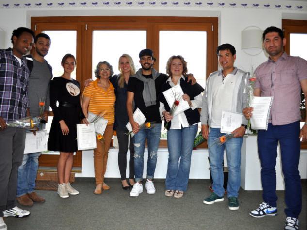 Erfolgreiche IntegrationskursteilnehmerInnen im Integrationskurs 40