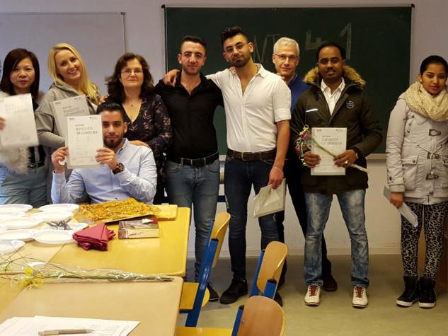 Erfolgreiche IntegrationskursteilnehmerInnen im Integrationskurs 41