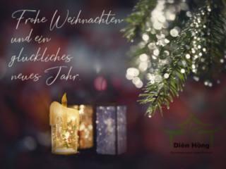 Diên Hồng — Gemeinsam unter einem Dach e.V. wünscht frohe Weihnachten und ein glückliches neues Jahr.