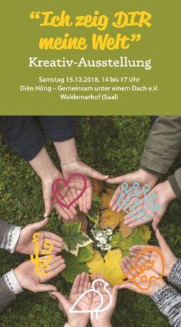 """Kreativ Ausstellung """"Ich zeig dir meine Welt"""" am 15.12.18"""
