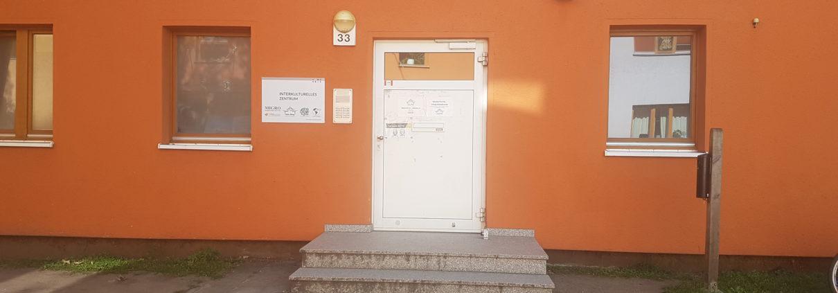 Eingang zum Interkulturellen Zentrum